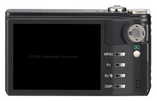 Ricoh CX3 back view and LCD