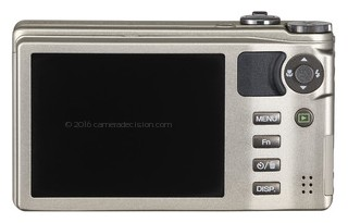 Ricoh CX4 back view and LCD