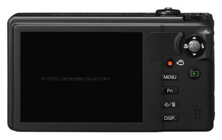 Ricoh CX6 back view and LCD