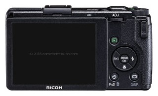 Ricoh GR Digital IV back view and LCD