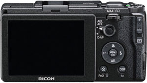 Ricoh GR II back view and LCD