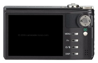 Ricoh PX back view and LCD
