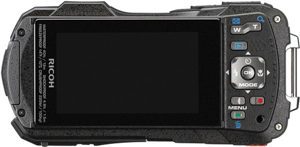 Ricoh WG-30 back view and LCD