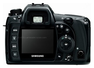 Samsung GX-10 back view and LCD