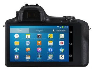 Samsung Galaxy NX back view and LCD
