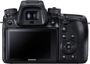 Samsung NX1 back view and LCD