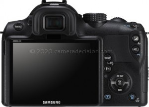 Samsung NX10 back view and LCD