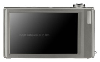 Samsung TL240 back view and LCD