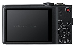 Samsung WB750 back view and LCD