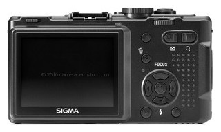 Sigma DP1s back view and LCD