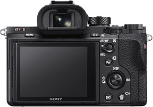 Sony A7R II back view and LCD
