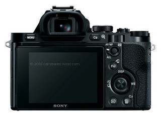 Sony A7R back view and LCD