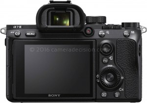 Sony A7 III back view and LCD