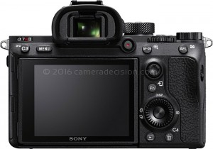Sony A7R III back view and LCD