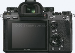 Sony A9 back view and LCD