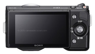 Sony NEX-5 back view and LCD