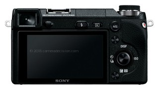 Sony NEX-6 back view and LCD