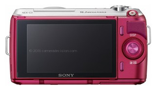 Sony NEX-C3 back view and LCD