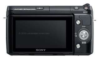 Sony NEX-F3 back view and LCD
