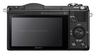 Sony a5000 back view and LCD