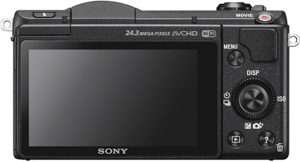 Sony a5100 back view and LCD