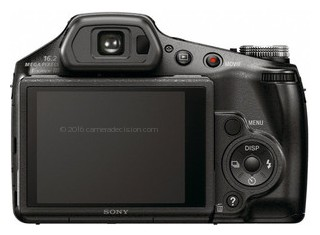 Sony HX100V back view and LCD