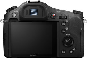 Sony RX10 II back view and LCD