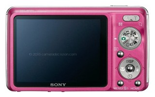 Sony W220 back view and LCD