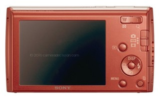 Sony W510 back view and LCD