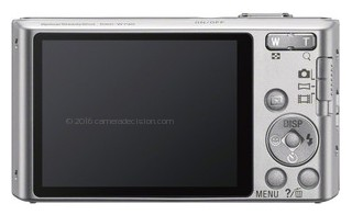 Sony W730 back view and LCD