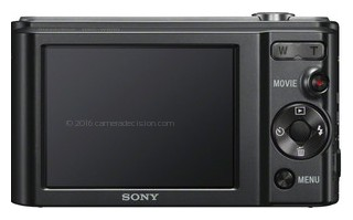 Sony W800 back view and LCD