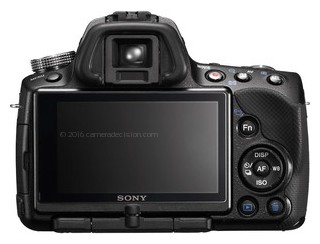 Sony A55 back view and LCD