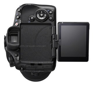 Sony A65 back view and LCD