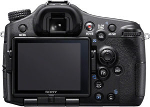 Sony A77 II back view and LCD