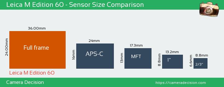 Leica M Edition 60 Sensor Size Comparison