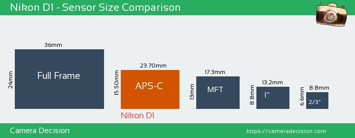 Nikon D1 Sensor Size Comparison
