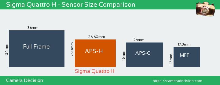 Sigma Quattro H Sensor Size Comparison