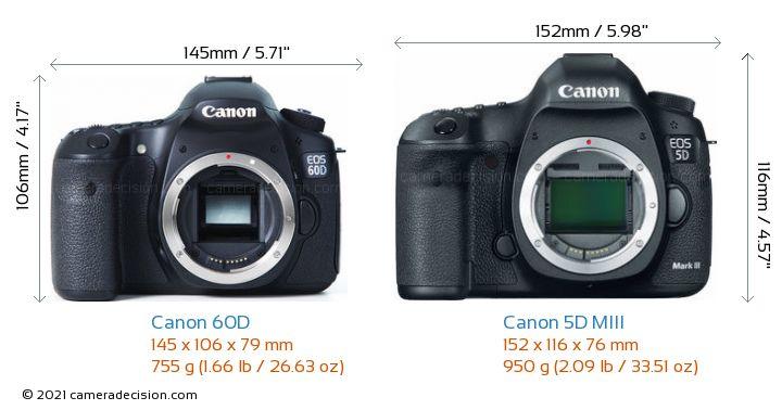 Canon 60D vs Canon 5D MIII Detailed Comparison