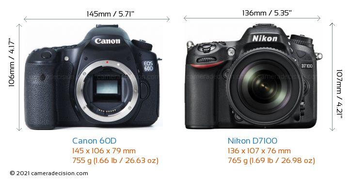 Canon 60D vs Nikon D7100 Detailed Comparison