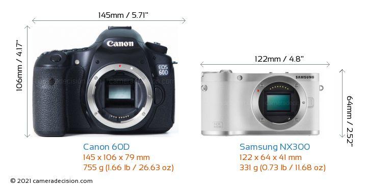Canon 60D vs Samsung NX300 Detailed Comparison