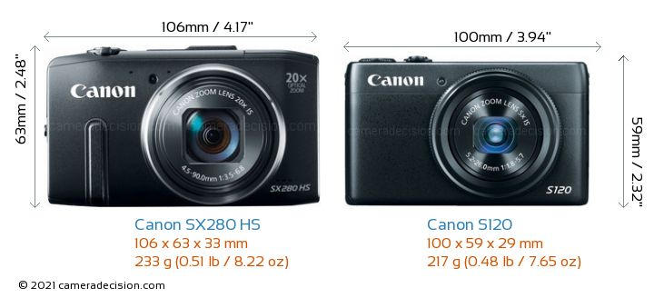 Canon Sx280 Hs Vs Canon S120 Detailed Comparison