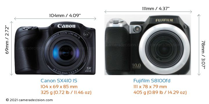 Canon sx410 is vs fujifilm s8100fd detailed comparison for Fujifilm s8100fd prix