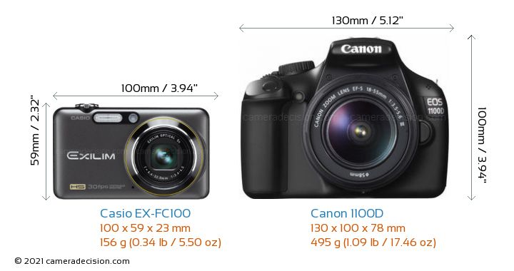 casio ex fc100 vs canon 1100d detailed comparison. Black Bedroom Furniture Sets. Home Design Ideas