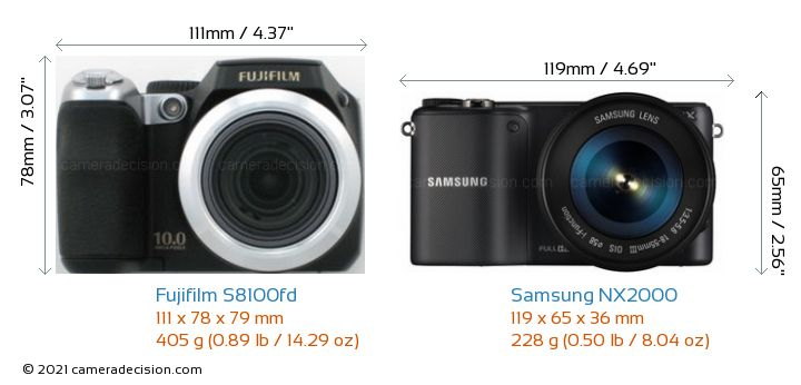 Fujifilm s8100fd vs samsung nx2000 detailed comparison for Fujifilm s8100fd prix