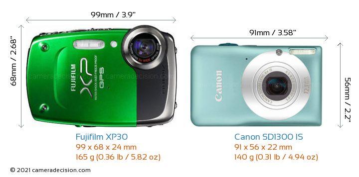 fujifilm xp30 vs canon sd1300 is detailed comparison
