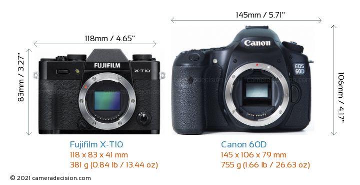 Fujifilm X T10 Vs Canon 60D Detailed Comparison