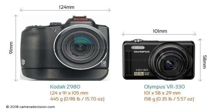 Kodak Z980 vs Olympus VR-330 Detailed Comparison