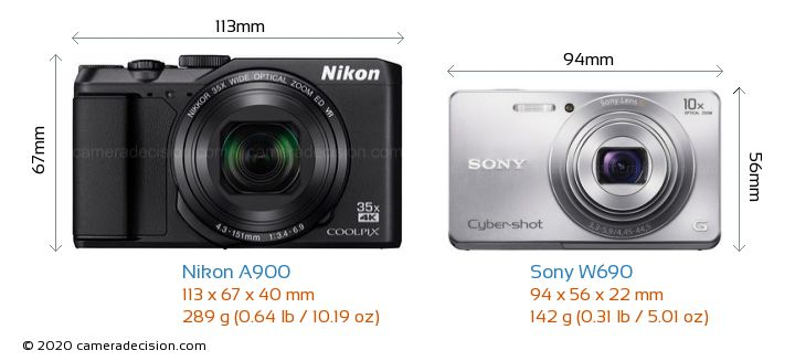 nikon a900 vs sony w690 detailed comparison