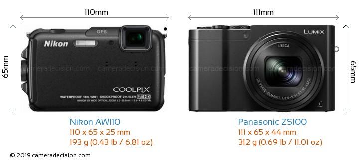 nikon aw110 vs panasonic zs100 detailed comparison  coolpix p100 manual