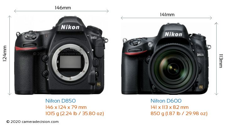 Nikon D850 vs Nikon D600 Detailed Comparison